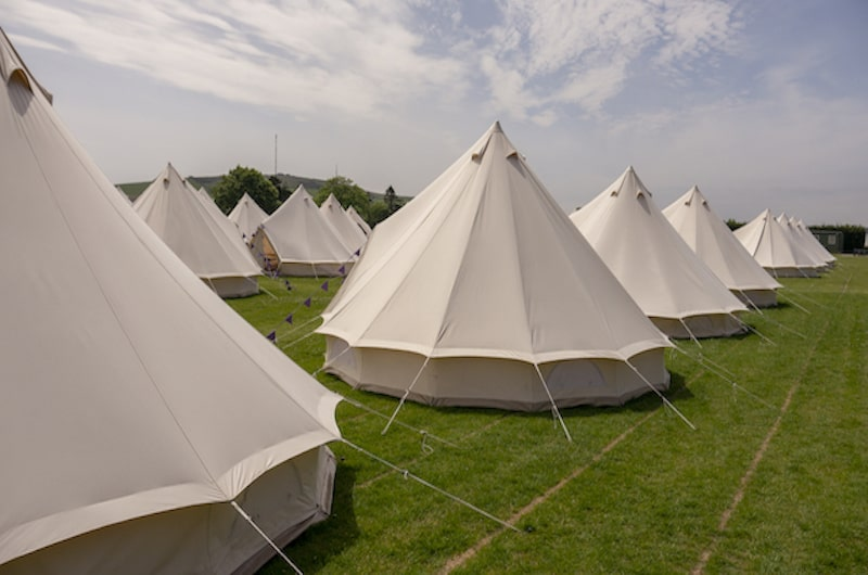 Hotel Bell Tents Exterior